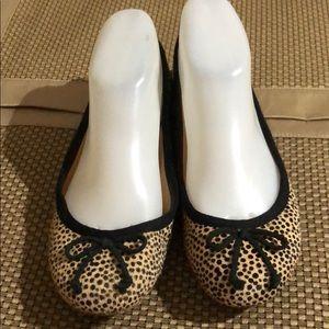 J Crew Leopard Print Ballet Flats EUC